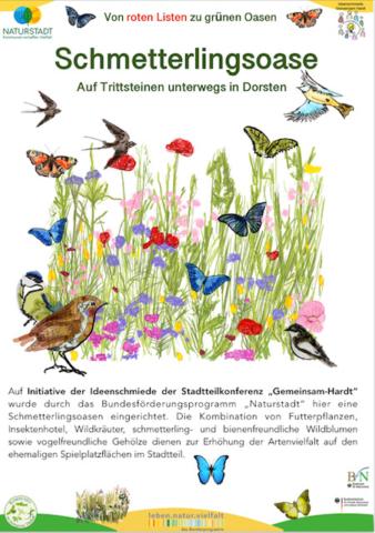 Schild Schmetterlingsoase-2